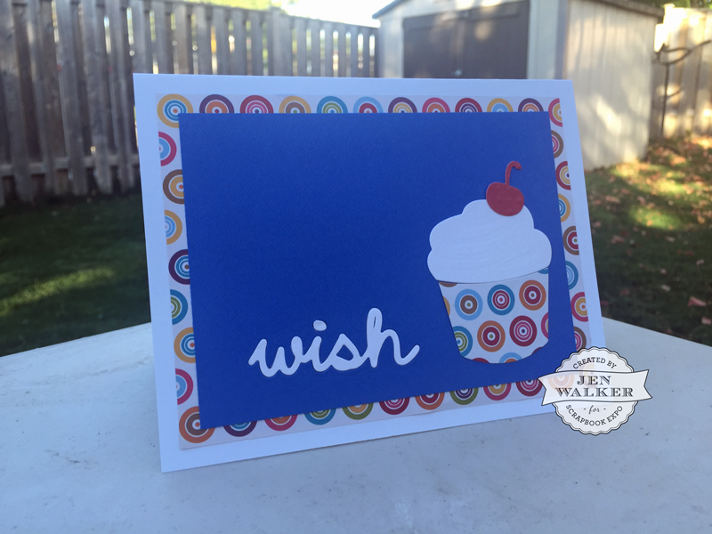 Spellbinders Wish card by Jen Walker