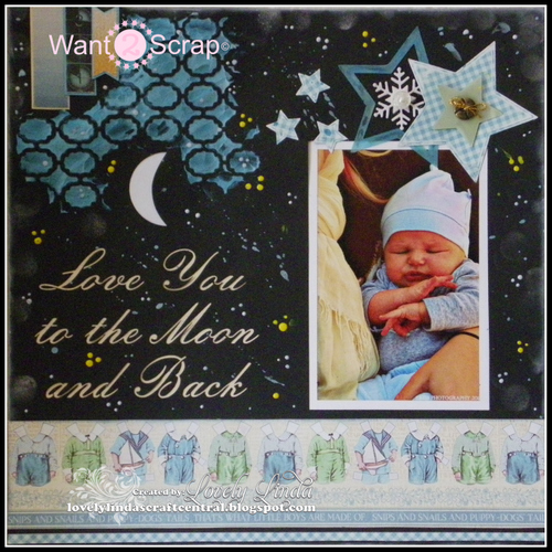 Want2Scrap Love you to the Moon and Back Layout