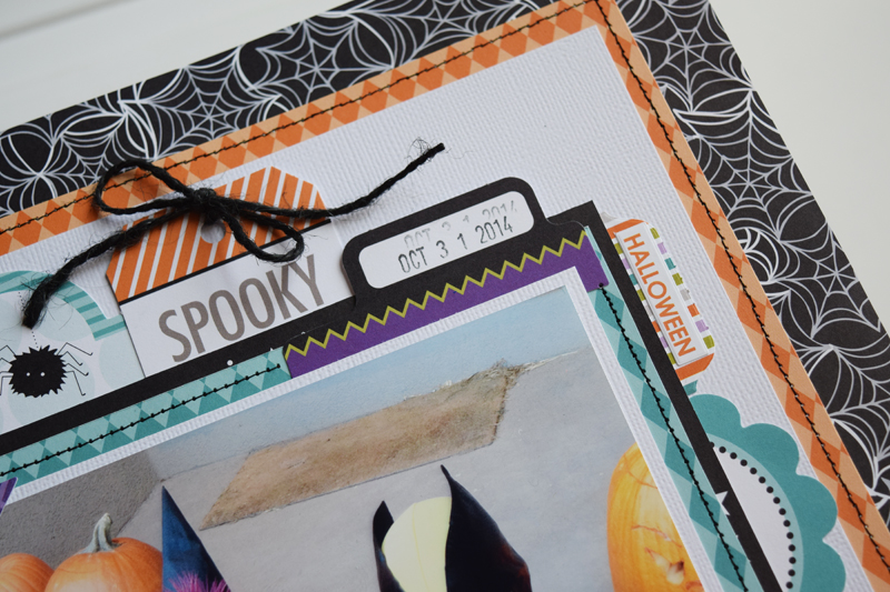 How to use paper straws on a layout by @jbckadams (Becki Adams) for @scrapbookexpo
