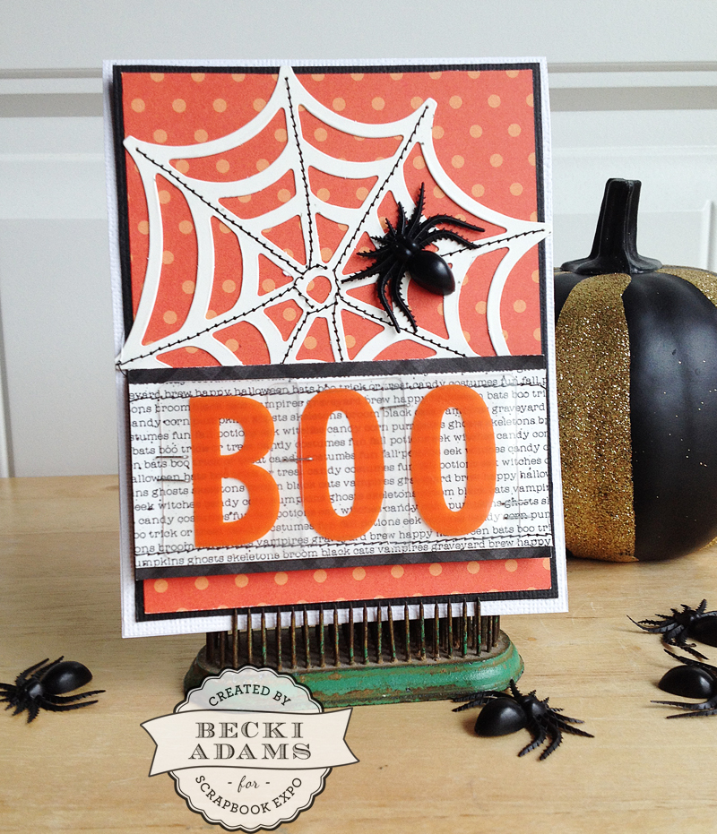 Halloween card by @jbckadams for @scrapbookexpo