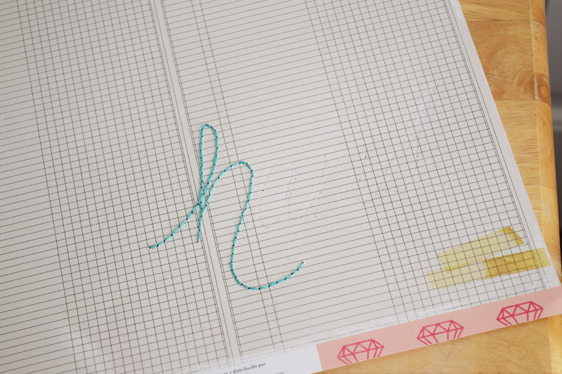 How to create a hand stitched title by @jbckadams (Becki Adams) for @scrapbookexpo