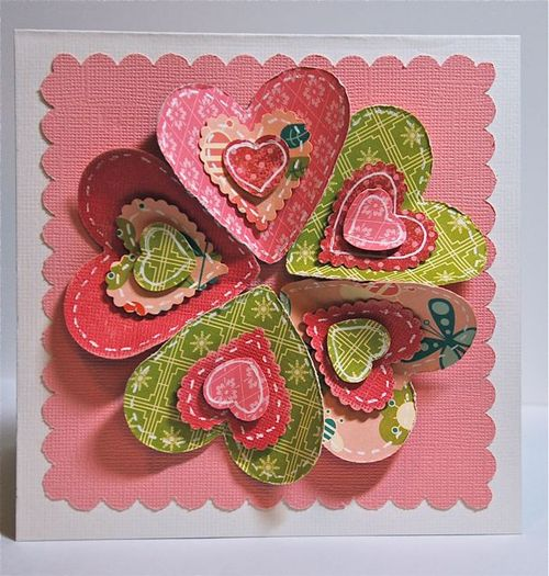 Applique Heart card by Kimber McGray