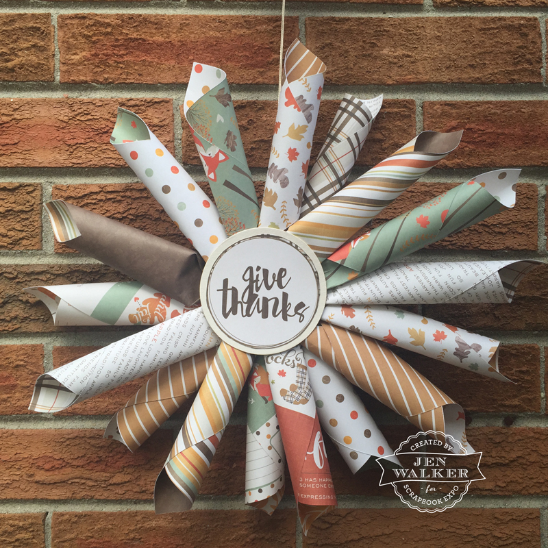Fall Decoration for Photo Play Paper by Jen Walker