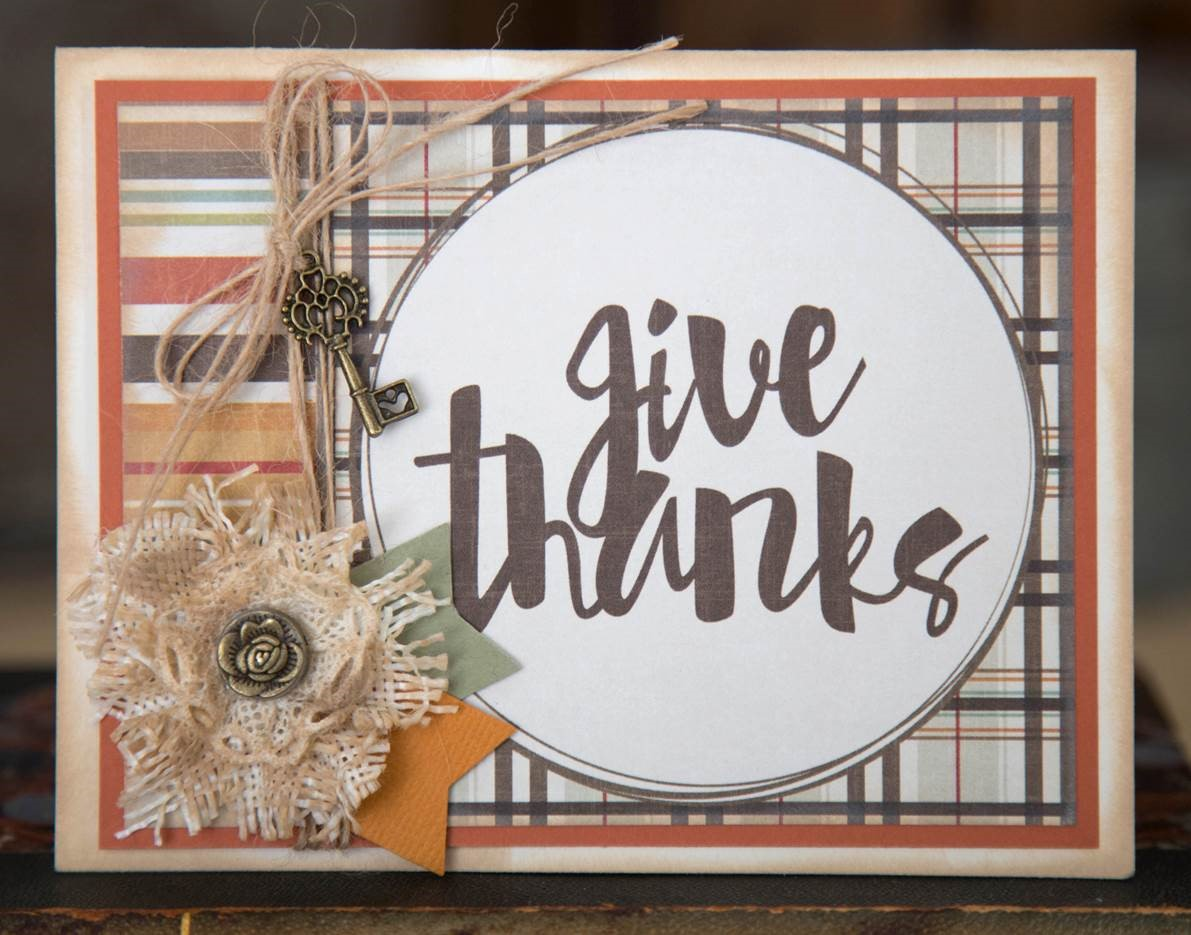 Give Thanks card by Photo Play Paper