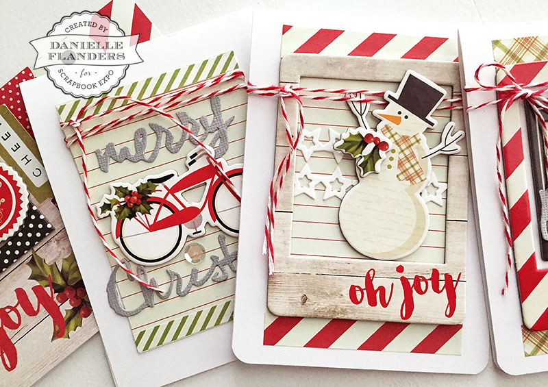 ss bike and snowman cards