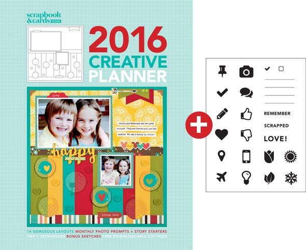 2016 Scrapbook & Cards Today Planner and Companion Stamp set