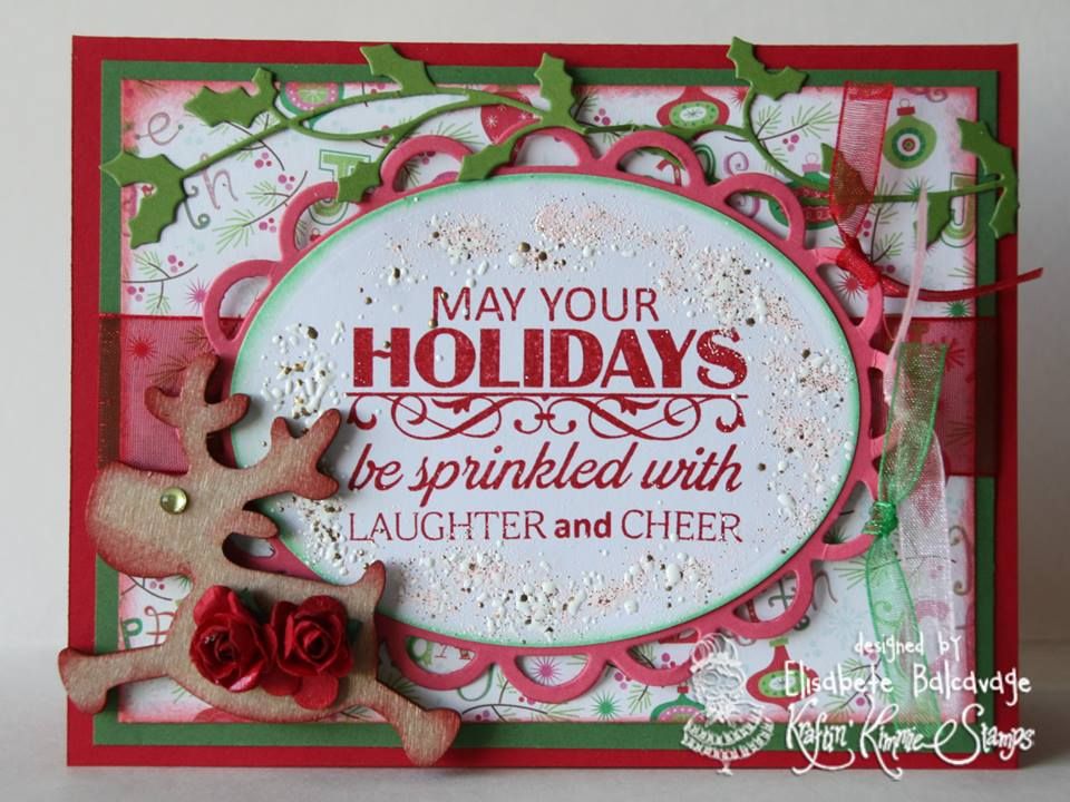 May Your Holidays card by Elisabete Balcavage