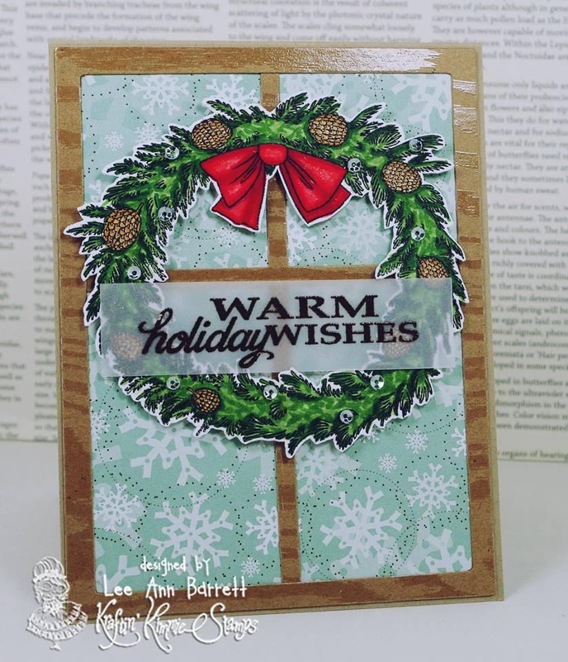 Warm Holiday Wishes card by Lee Ann Barrett