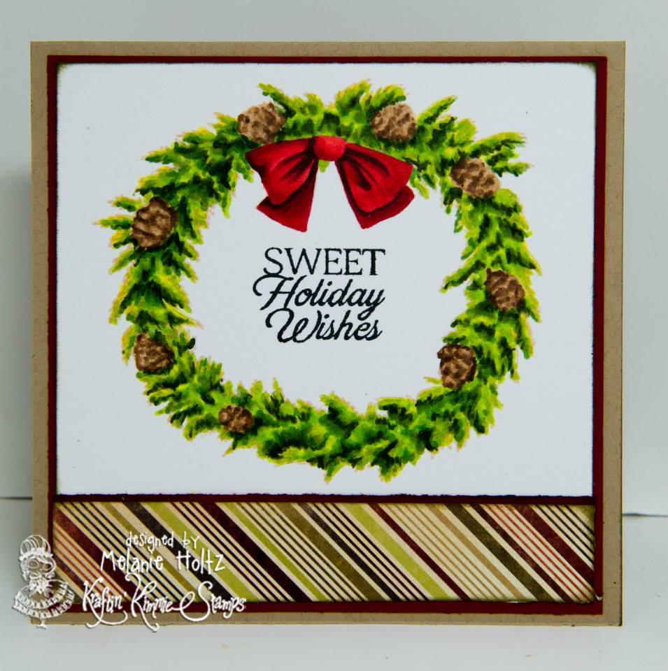 Wreath card by Melanie Holtz