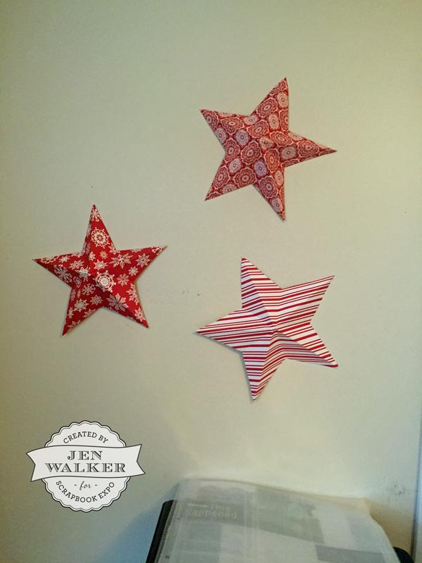 Paper Stars by Jen Walker for Scrapbook Expo
