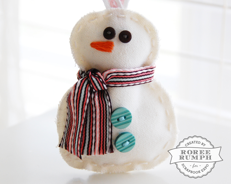 roree rumph_handmade_plush_snowman_ornament