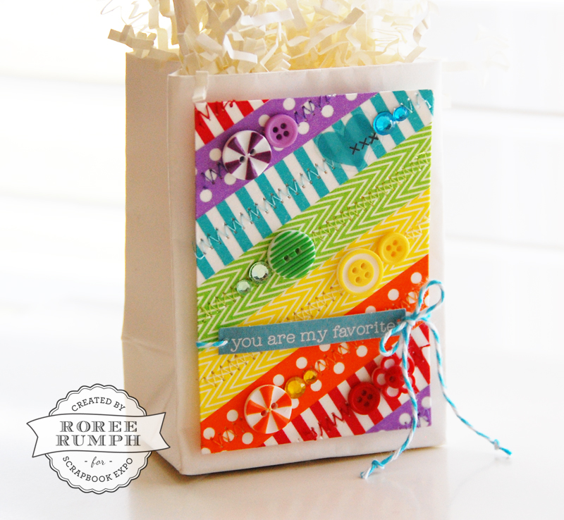 roree rumph_rainbow_washi tape_gift bag