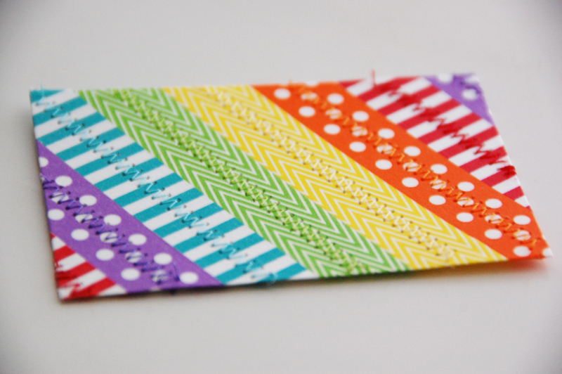 roree rumph_rainbow_washi tape_gift bag_step 7