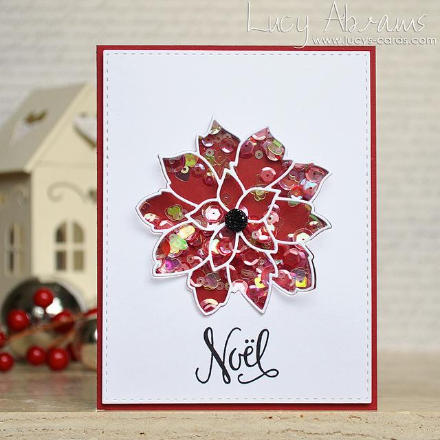 Poinsettia Shaker Card