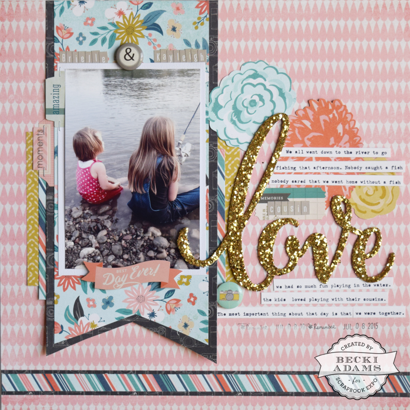 Cousin layout by @jbckadams for @scrapbookexpo