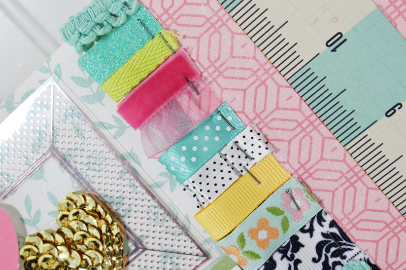 How to Create a Ribbon Border (Video Tutorial) by @jbckadams for @scrapbookexpo