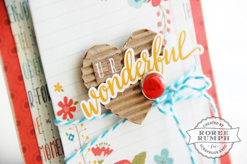 roree rumph_corrugated cardboard_die cut_card_closeup