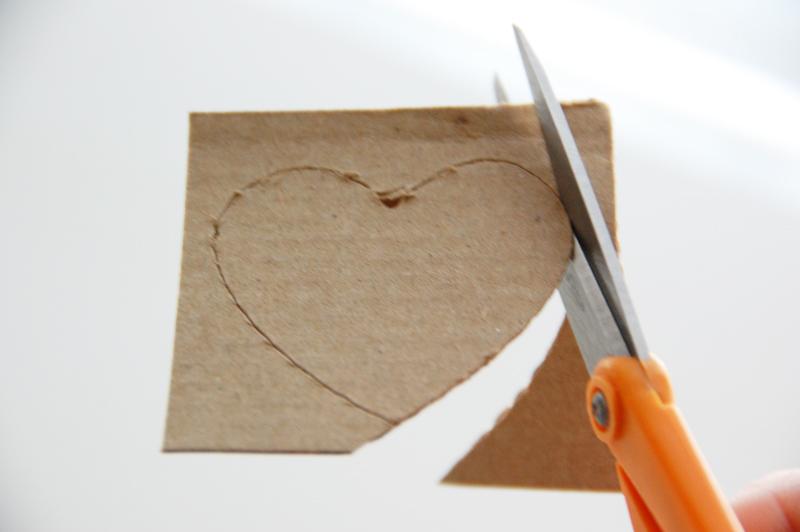 roree rumph_corrugated cardboard_die cut_card_step4