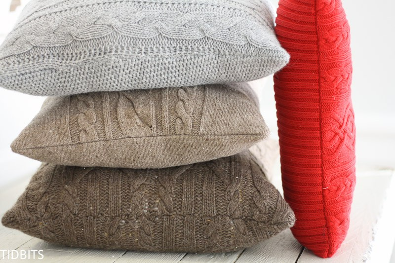 Re-purposed Sweater Pillow