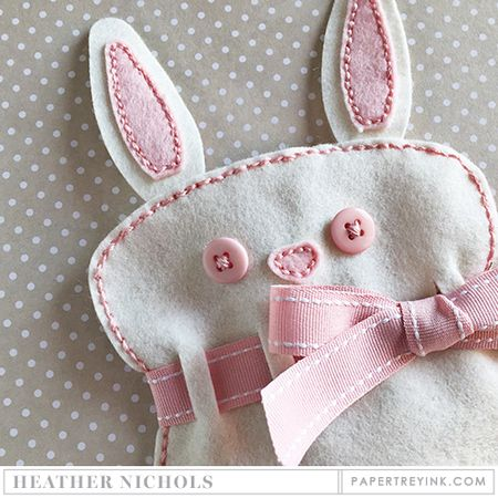 bunny gift bag by Heather Nichols