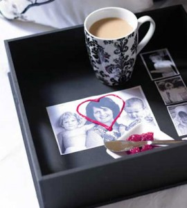 Decoupaged Photo Tray