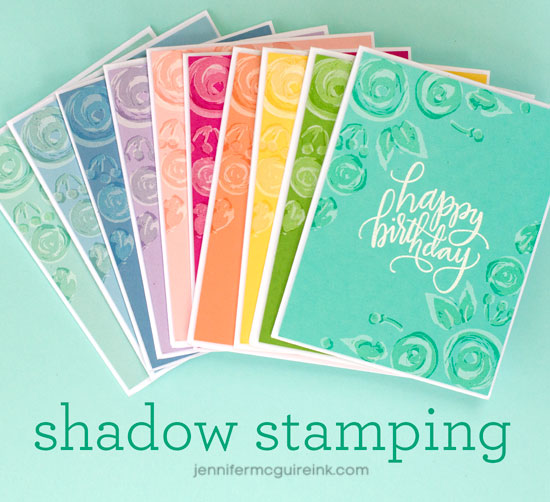 Shadow Stamping by Jennifer McGuire