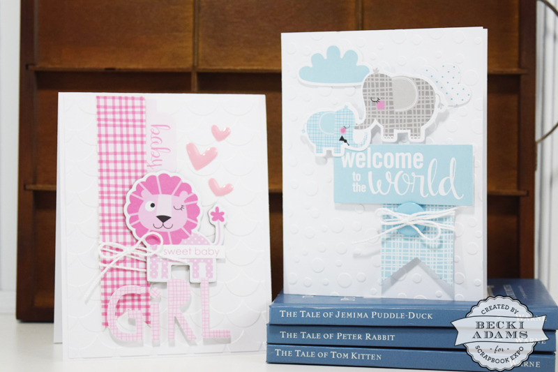 Welcome Baby Cards by @jbckadams for @scrapbookexpo using products from @bellablvd