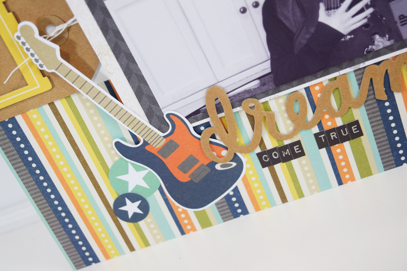 """Scrapbooking Process Video """"Dream Come True"""" by @jbckadams for @scrapbookexpo #scrapbooking #papercrafting #memorykeeping"""