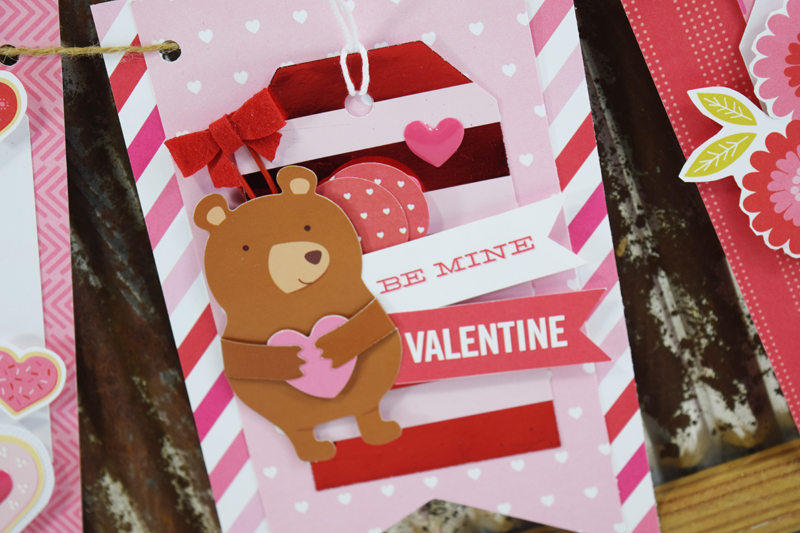 Valentine's Banner by @jbckadams for @scrapbookexpo