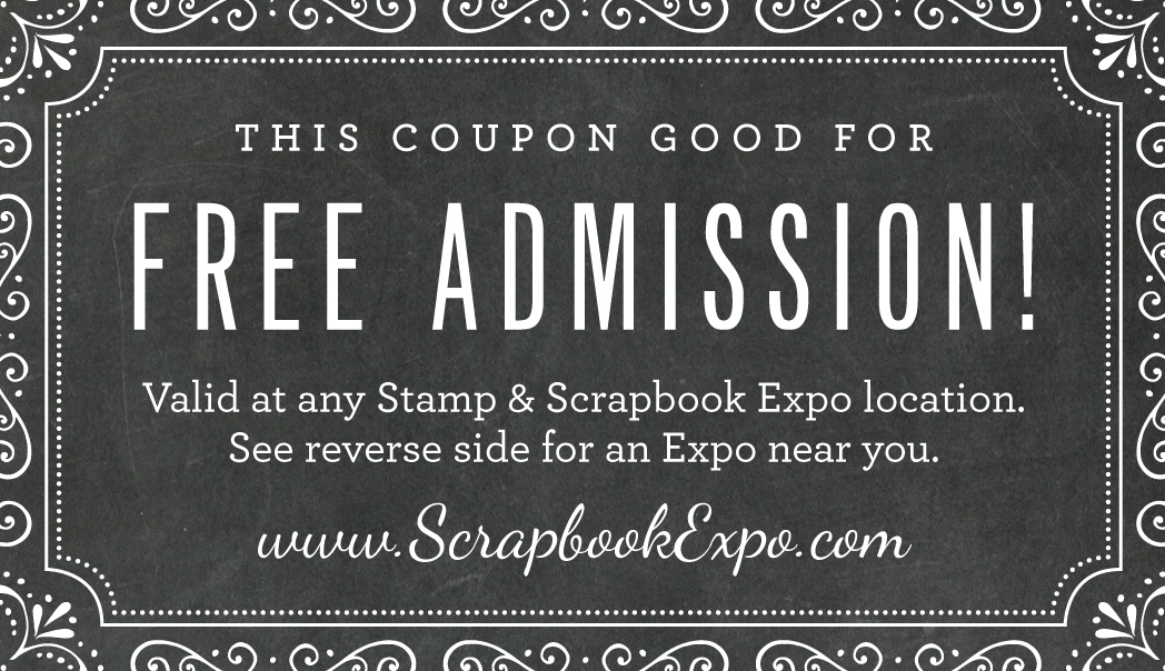 Stamp & Scrapbook ExpoFree Admission Card 2016