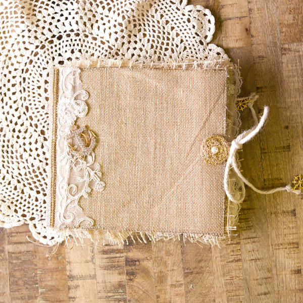 _Nautical Burlap Album
