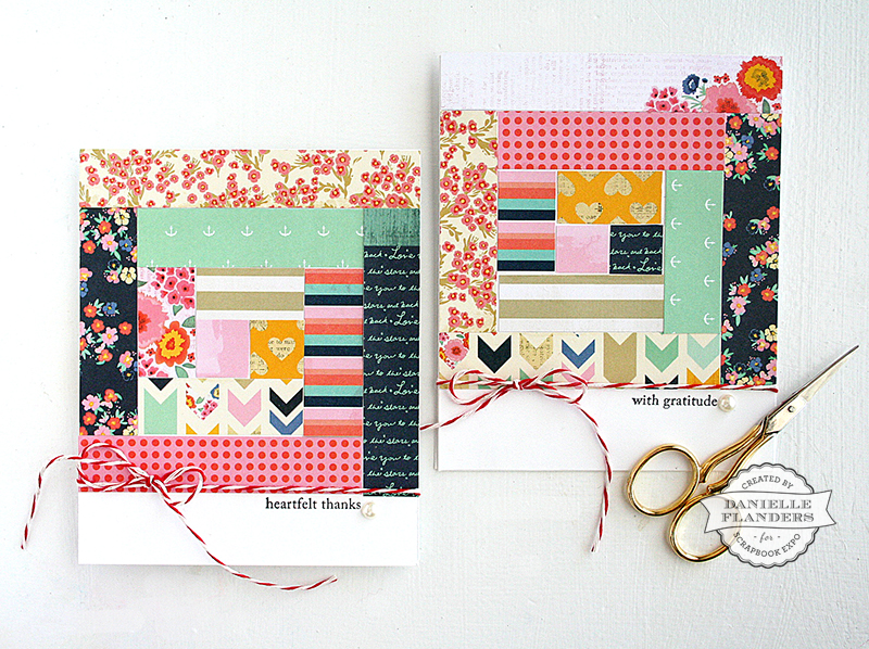 Quilt cards by Danielle Flanders