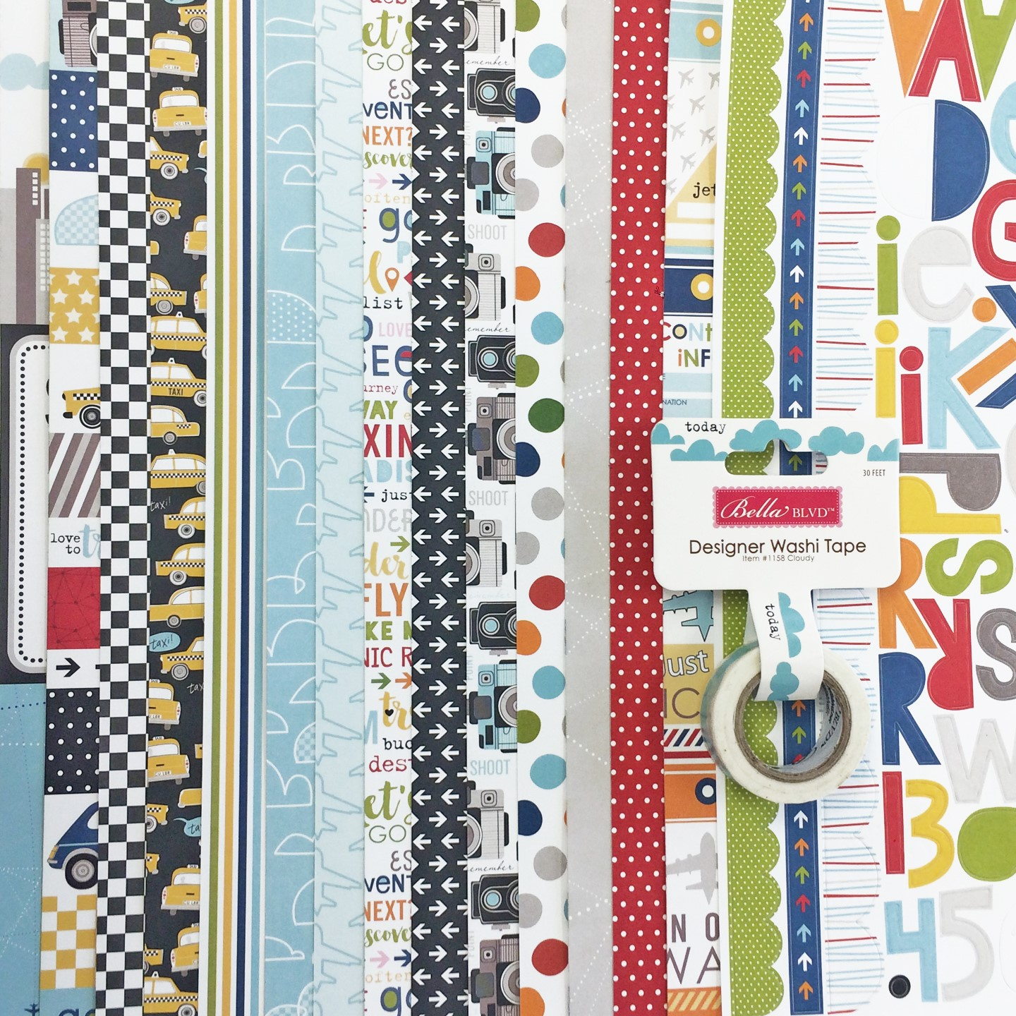 Bella Blvd prize - Let's Go Collection and coordinating Washi Tape