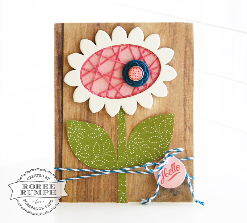 roree rumph_string art-inspired_flower_card