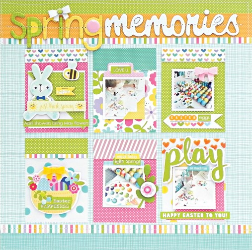 Bella Blvd. Spring Memories scrapbook layout