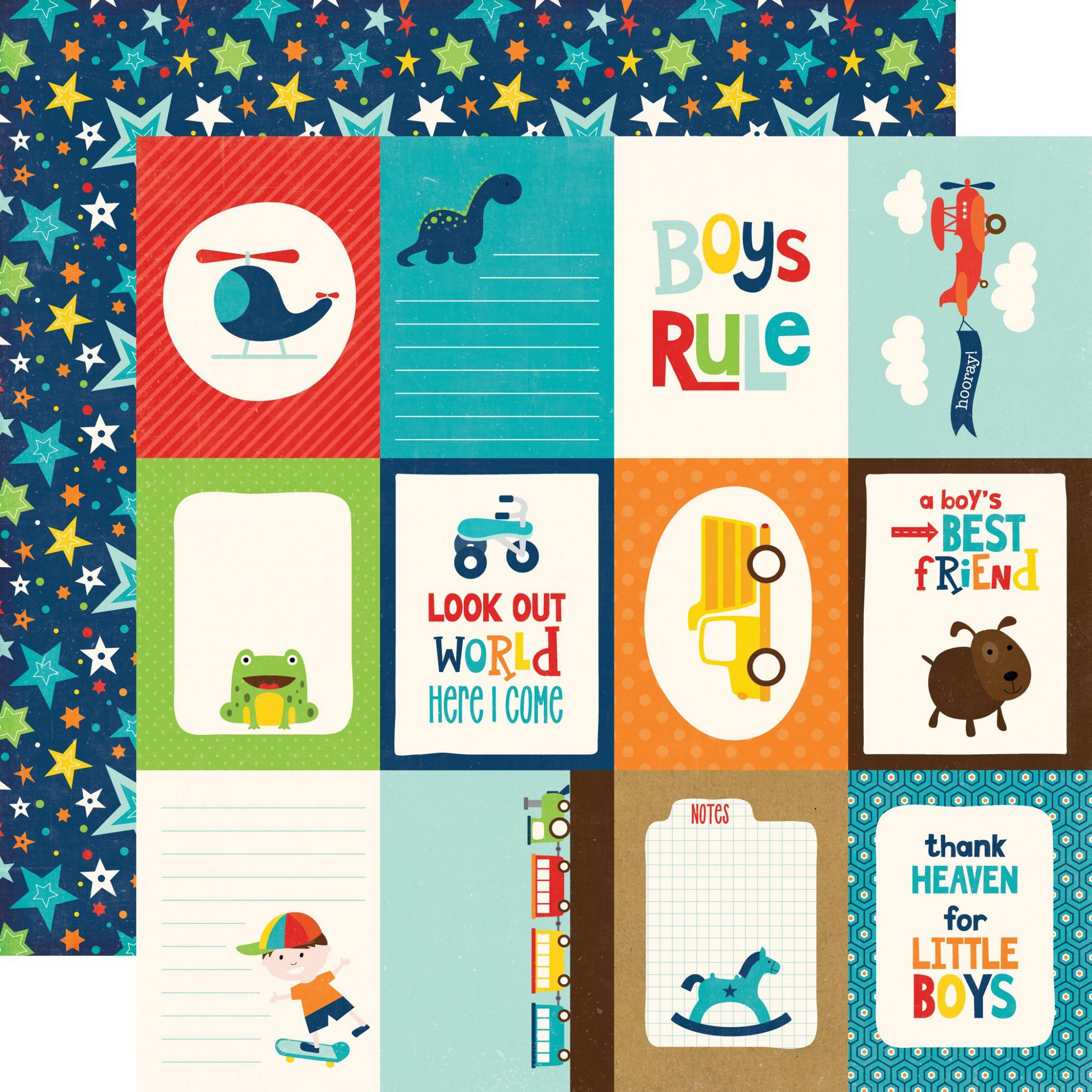 Little Man Journaling Cards Echo Park Paper