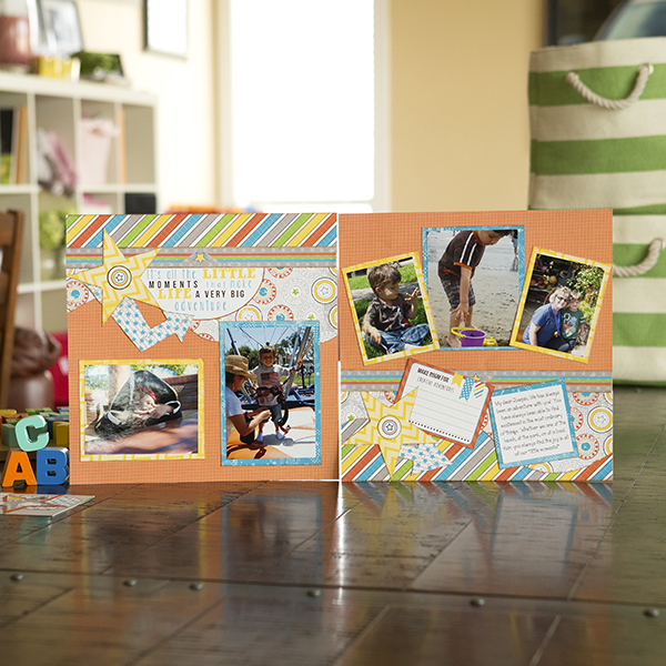_''Life's Little Moments'' Two-Page Layout