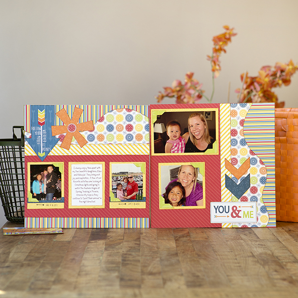 _''Live Life'' Two-Page Layout and Card