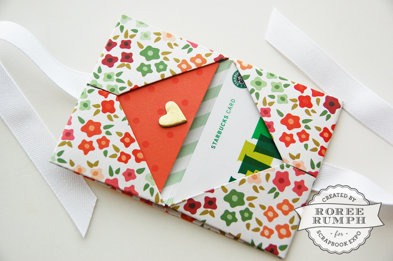 roree rumph_origami_gift card holder_open