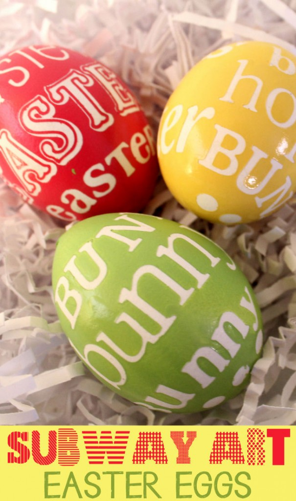 Subway Art Painted Easter Eggs