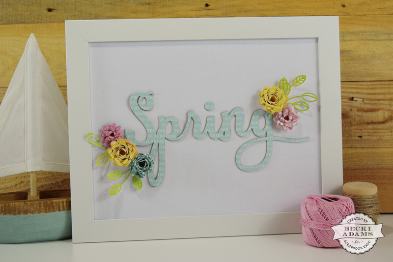 DIY Spring Home Decor by @jbckadams for @scrapbookexpo