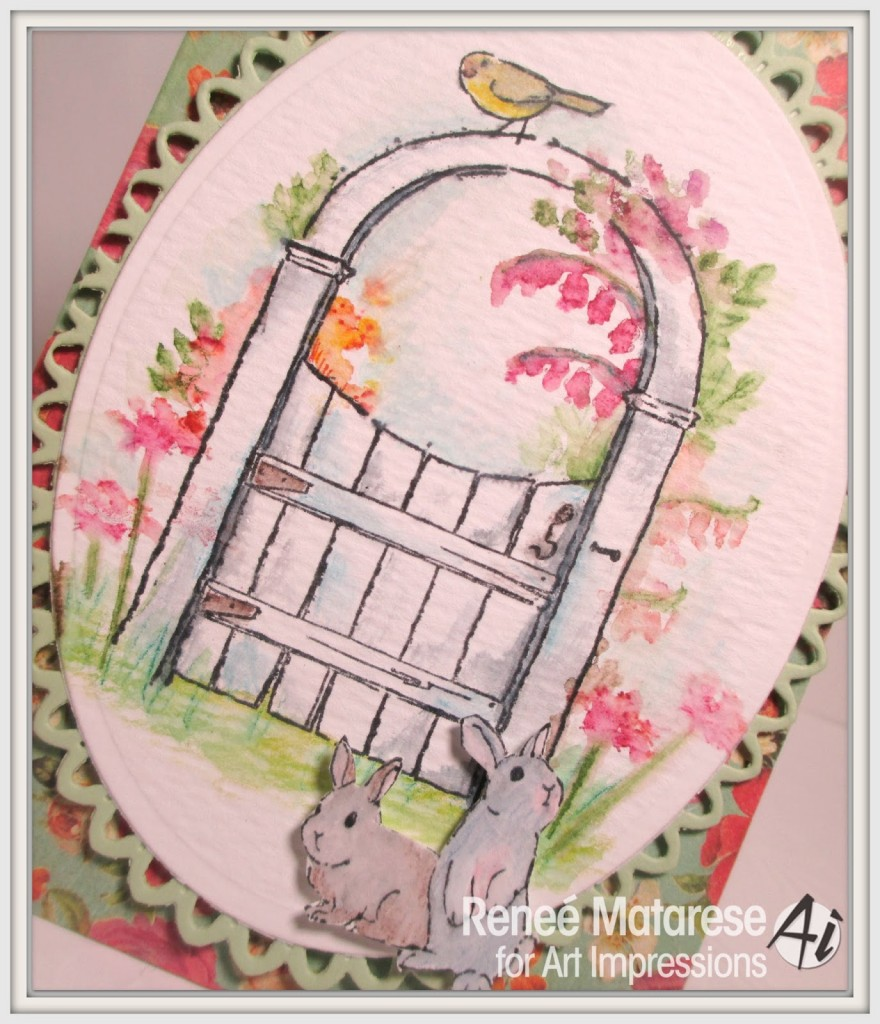 Wooden Gate card by Renee Matarese