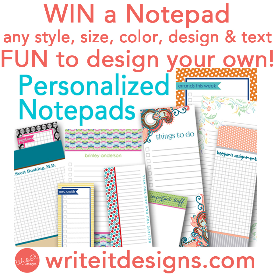 Write it Designs Giveaway