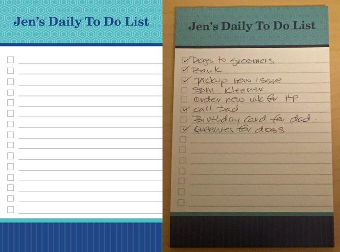 Jen's To Do List