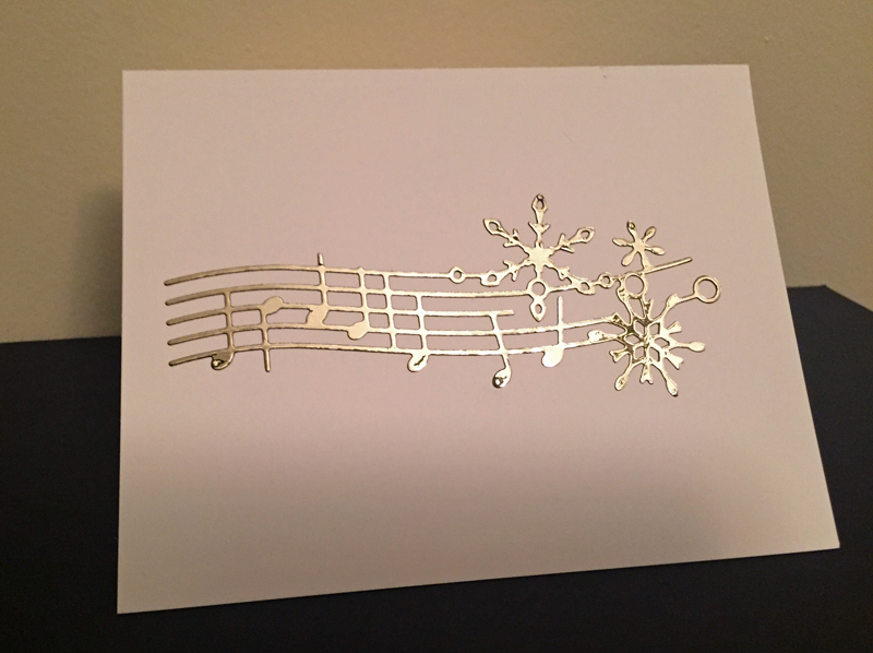 Thermoweb - Music Notes card by Jen Walker