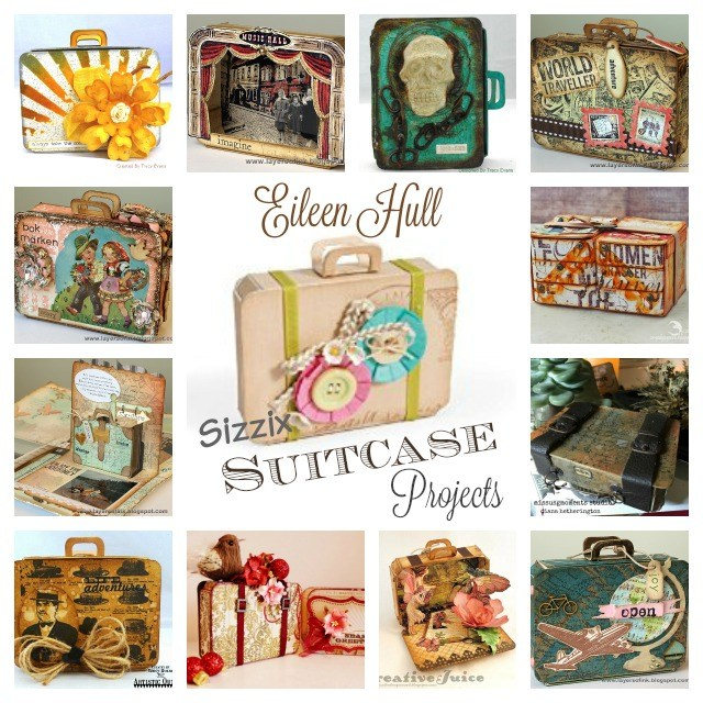 Eileen Hull Sizzix Suitcase Die Projects