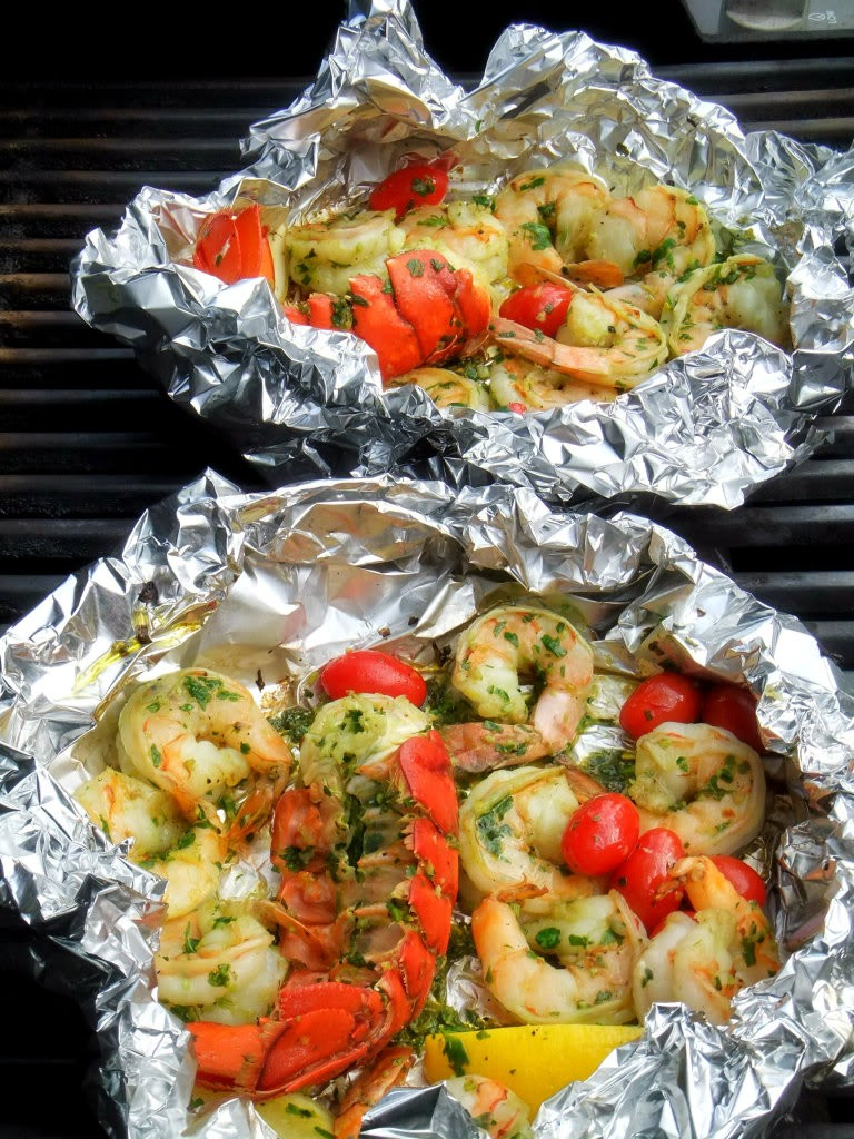Grilled Shrimp and Lobster Gremolata