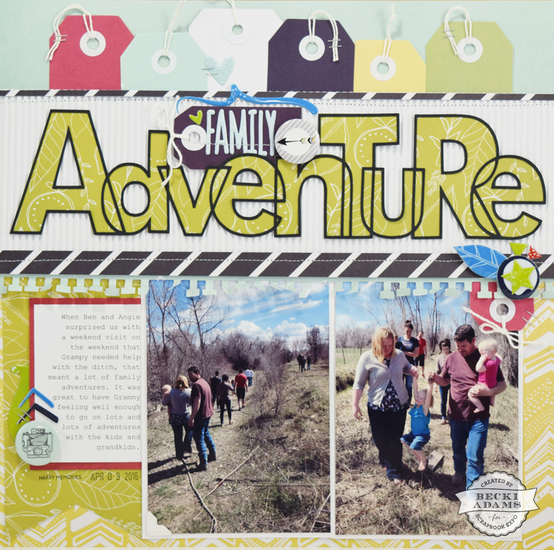 Family Adventure by @jbckadams for @scrapbookexpo #scrapbooking #silhouettecameo #scrapbook
