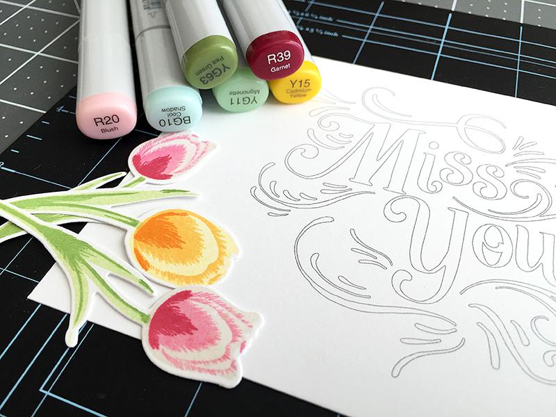 coloring page - copics