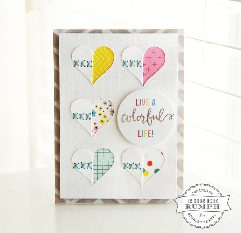 Colorful Life card by Roree Rumph